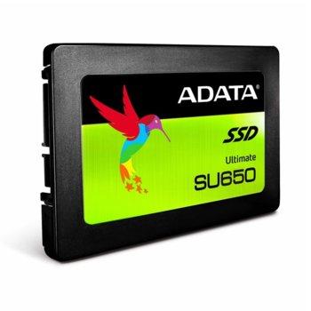 """Памет SSD 480GB A-Data Ultimate SU650, SATA 6Gb/s, 2.5"""" (6.35 cm), скорост на четене 520 Mb/s, скорост на запис 450 Мb/s, 3D NAND image"""