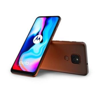 "Смартфон Motorola MOTO E7 Plus (XT2081-2)(оранжев), поддържа 2 sim карти, 6.5"" (16.51 cm) IPS дисплей, осемядрен Snapdragon 460 1.8 GHz, 4GB DDR4, 64GB Flash памет (+ microSD слот), 48.0 + 2.0 & 8.0 Mpix камера, Android image"