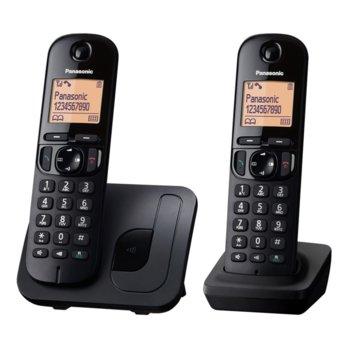 """Безжичен телефон Panasonic KX-TGC212FXB, 1.6""""(4,06) LCD дисплей, черен image"""