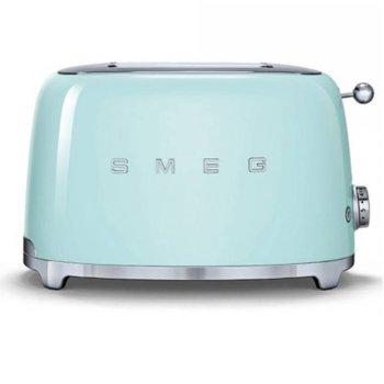 Тостер Smeg TSF01PGEU, функция отказ, автоматично центриране на филийките хляб, автоматично изваждане на филийките след печене, aвтоматично изключване, 7 степени на изпичане, 950 W image