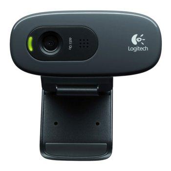 Уеб камера Logitech C270, микрофон, 720p, 30fps, USB, черна image