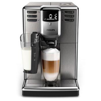 Aвтоматична еспресо кафемашина Philips Saeco Series 5000, 6 напитки, система LatteGo, неръждаема стомана, AquaClean, инокс image