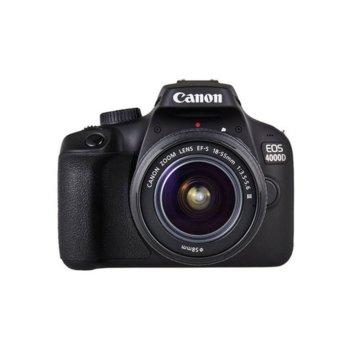 """Фотоапарат Canon EOS 4000D в комплект с обективи EF-s 18-55mm f/3.5-5.6 DC III и Canon EF 50mm f/1.8 STM, 18.0 MPix, 2.7""""(6.85cm) LCD дисплей, SD card слот, HDMI Mini(Type-C), Wi-Fi image"""