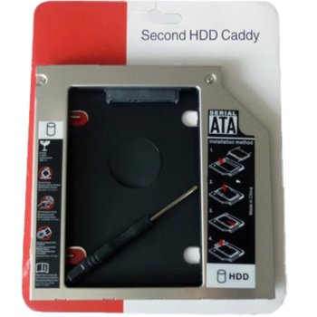 "Чекмедже за DVD към 2.5"" (6.35 cm) SATA HDD/SSD, 9.5mm image"