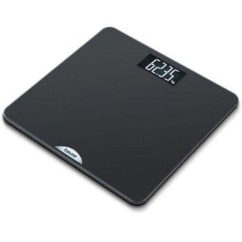 Цифров кантар Beurer PS 240 personal bathroom scale, капацитет 180 кг, LCD дисплей, с включена батерия, черен image