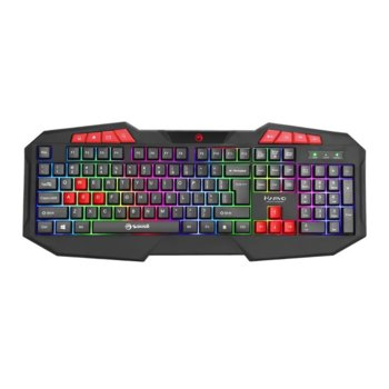 Клавиатура Marvo K602, гейминг, LED, черна, USBMarvo геймърска клавиатура Gaming keyboard 112 keys - K602 - Rainbow backlight image