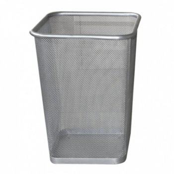 Кошче за отпадъци, хромирано, сиво image