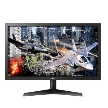 """Монитор LG 24GL600F-B, 23.6"""" (59.94 cm) TN панел, Full HD, 1ms, 1 000:1, 300 cd/m2, DisplayPort, HDMI, AUX  image"""