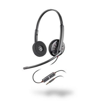 Слушалки Plantronics Blackwire C225, микрофон с Noise-cancelling, 3.5mm jack, сиви image