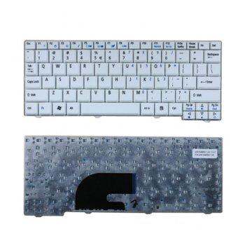 Клавиатура за Acer Aspire ONE A110, съвместима с A150/ZG5/D150/D250, White, US с КИРИЛИЦА ОЕМ image