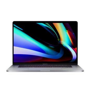 "Лаптоп Apple MacBook Pro 16 (MVVK2ZE/A)(сив), осемядрен Intel Core i9 2.3/4.8GHz, 16"" (40.64 cm) UWQHD Retina Display & Radeon Pro 5500M 4GB GDDR6 (Thunderbolt), 16GB, 1TB SSD, 4x Thunderbolt, macOS, 2.0kg image"