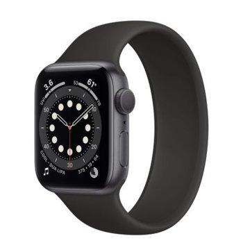 """Смарт часовник Apple Watch Series 6, 44mm, 1.78"""" (4.52 cm) Retina OLED дисплей, Bluetooth, 50m water resistant, до 18 часа време на работа, Sport Band - Regular, сив image"""