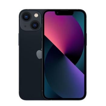 """Смартфон Apple iPhone 13 mini (черен), 5.4"""" (13.72 cm) Super Retina XDR OLED дисплей, шестядрен Apple A15 Bionic 3.22 GHz, 4GB RAM, 256GB Flash памет, 12.0 + 12.0 & 12.0 MPix камера, iOS, 141g image"""