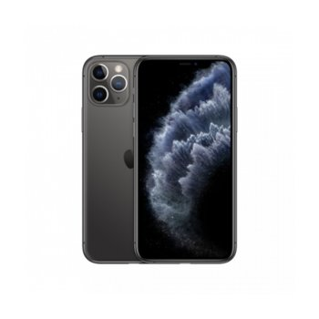 """Смартфон Apple iPhone 11 Pro (Space Grey), 5.8"""" (14.73 cm) Super Retina XDR дисплей, шестядрен A13 Bionic 2.6 GHz, 4GB RAM, 64GB Flash памет, 12.0 + 12.0 + 12.0 & 12.0 MPix камера, iOS 13, 188 g image"""