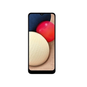 "Смартфон Samsung SM-A025G Galaxy A02s (бял), поддържа 2 SIM карти, 6.5"" (16.51 cm) HD+ дисплей, осемядрен Snapdragon 450 1.8 GHz, 3GB RAM, 32GB Flash памет (+ microSD слот), 13.0 + 2.0 + 2.0 & 5.0 MPix камера, Android image"