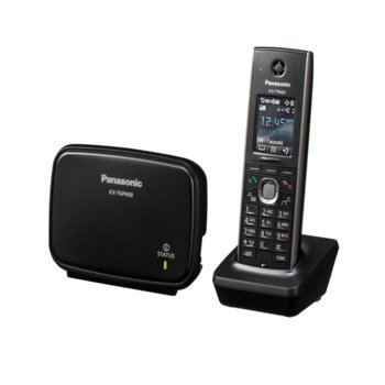 """Безжичен телефон Panasonic KX-TGP600, 1.8""""(4.57 cm) LCD дисплей, черен image"""