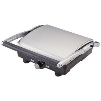 Грил преса Zephyr ZP 1442 PC, 2000W, отваряне на 180°, незалепващи плочи, тава за мазнина, инокс image
