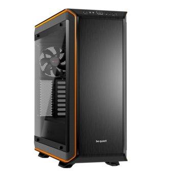 Кутия Be quiet! DARK BASE PRO 900 Silver Rev. 2, E/XL/ATX/mATX/mini-ITX, 2x USB 3.0, 1x USB 3.1 Gen 2 Type C, страничен прозорец от закалено стъкло, оранжев кант, без захранване image