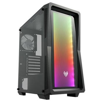 Кутия Fortron CMT212G, ATX/mATX/Mini-ITX, 2x USB 3.0, прозорец, черна, без захранване image