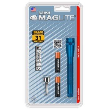 Фенер Mini MAGLITE M3AFD6U, 2 батерии AAA, 9 lm, водоустойчивост, син image