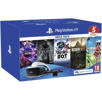 Очила за виртуална реалност PlayStation VR Mega Pack v2, VR хедсет, камера, слушалки, 5 игри image