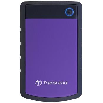 """Твърд диск 2TB Transcend StoreJet 25H3, лилав, 2.5"""" (6.35cm), външен, USB 3.0, удароустойчив image"""