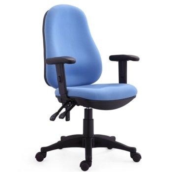 Работен стол RFG Norton (ON4010120293), дамаска, полипропиленова база, регулируеми подлакътници, 120 кг. максимално натоварване, сив image