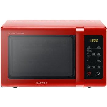 Микровълнова фурна Daewoo KOR-91RBR, електронно управление, 900W, 25L обем, функция Zero & On, функция SteamCleaning, 10 степени на мощност, червена image