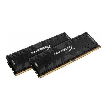 Памет 32GB (2x 16GB) DDR4 2400MHz, Kingston HYPER P, HX424C12PB3K2/32, 1.2V image