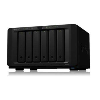 "Мрежови диск (NAS) Synology DiskStation DS1618+, четириядрен Denverton Intel Atom C3538 2.1GHz, без твърд диск (6x SATA 3.5/2.5"" HDD/SSD), 4GB DDR4 RAM, 4x 1GbE LAN, 3x USB 3.0, 2x eSATA image"