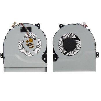 Вентилатор за лаптоп, съвместим с Asus K56CA X450 X550 (За single HeatSink copper cooling pipe) Type 1 image