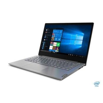 "Лаптоп Lenovo ThinkBook 14 IIL (20SL0048BM/2)(сив), четириядрен Ice Lake Intel Core i5-1035G1 1.0/3.6 GHz, 14.0"" (35.56 cm) Full HD IPS Anti-Glare Display, (HDMI), 8GB DDR4, 256GB SSD, 1x USB 3.1 Type C, DOS image"