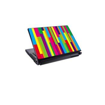 Декорация /скин/ Fullmark LS0040, за лаптопи до 26.7 x 39.37cm, цветно райе image