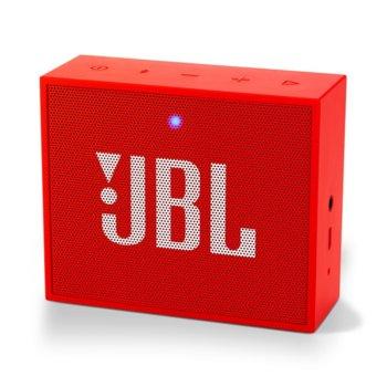 Тонколона JBL GO Plus, 1.0, 3W RMS, 3.5mm jack/Bluetooth, червена, до 5 часа работа image