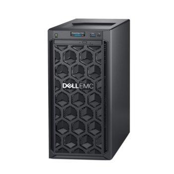 Сървър Dell PowerEdge T140 (#DELL02415), четириядрен Coffee Lake Intel Xeon E-2124 3.3/4.3 GHz, 8GB DDR4 UDIMM, 2x 1GbE LOM, 3x USB 3.0, без ОС, без PSU image