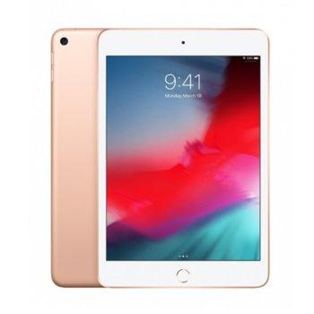 "Таблет Apple iPad Mini 5 (MUU62HC/A)(златист), 7.9"" (20.07 cm), осемядрен Apple A12 Bionic, 3GB RAM, 256GB Flash памет, 8.0 & 7.0 MPix камера, iOS, 300g image"