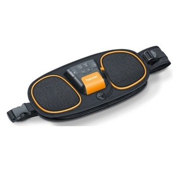 Масажор Beurer EM 39, мускулен електростимулатор, 5 програми, дисплей, таймер, автоматично изключване, водоустойчив, с батерия, черен image