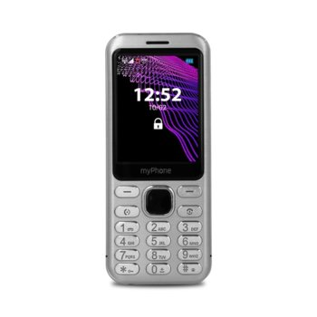 "GSM myPhone Maestro (сребрист), поддържа 2 sim карти, 2.8"" (7.11 cm) дисплей, 64MB Flash памет (+ microSD слот), 2 MPix камера image"