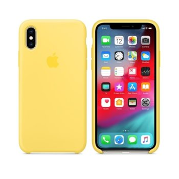 Apple iPhone XS Silicone Case - Canary Yellow product