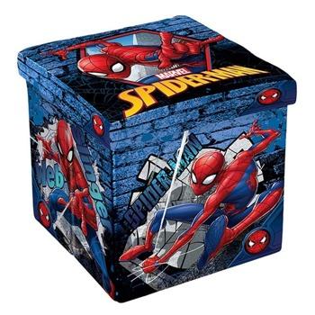 Табуретка Disney Spiderman, до 150кг, текстил, MDF основа, 3в1, сгъваема, синя image