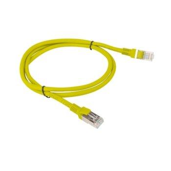Пач кабел Lanberg PCF5-10CC-0100-Y, FTP, cat.5e, 1м, жълт image