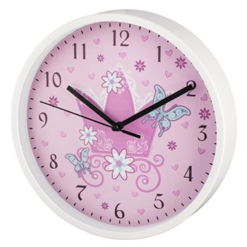 Часовник Hama Crown 186377, детски, аналогово указание, розово-бял image