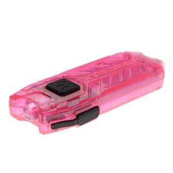 Фенер Nitecore Tube, Micro USB вход за зареждане, 45 lumens, джобен, розов image
