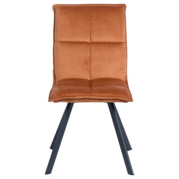 Трапезен стол Carmen 517, дамаска, оранжев image