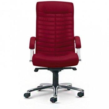 Директорски Стол ORION Steel Chorme Ест.кожa Бордо product