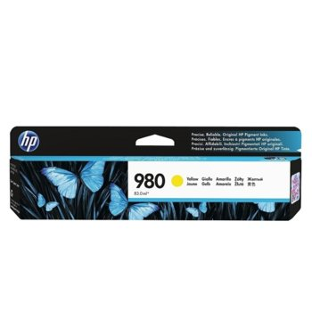 КАСЕТА ЗА HP Officejet Enterprise Color Flow X585z/X585dn/X585f/X555dn/X555xh - Yellow - 980 - P№ D8J10A - заб.: 6 600k image