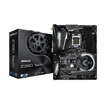 Дънна платка AsRock Z390 Taichi, Z390, LGA1151, DDR4, PCI-Е (HDMI&DisplayPort)(CFX&SLI), 8x SATA 6Gb/s, 3x Ultra M.2, USB 3.1 Gen2, ATX image