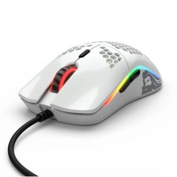 Мишка Glorious Odin O, оптична (12 000dpi), USB, лъскаво бяла, геймърска, подсветка image
