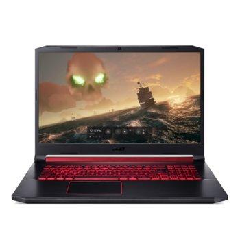 "Лаптоп Acer Nitro 5 AN517-51-51CQ (NH.Q5EEX.004), четириядрен Coffee Lake Intel Core i5-8300H 2.3/4.0 GHz, 17.3"" (43.94 cm) Full HD IPS Anti-Glare Display & GF GTX 1050 3GB (HDMI), 8GB DDR4, 1TB HDD, Linux  image"