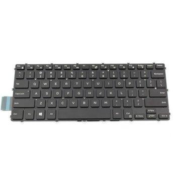 Клавиатура за лаптоп Dell, съвместима със серия Inspiron 14-7466 15-5568 15-7569, черна, без рамка, с малък ентър, US, с подсветка image